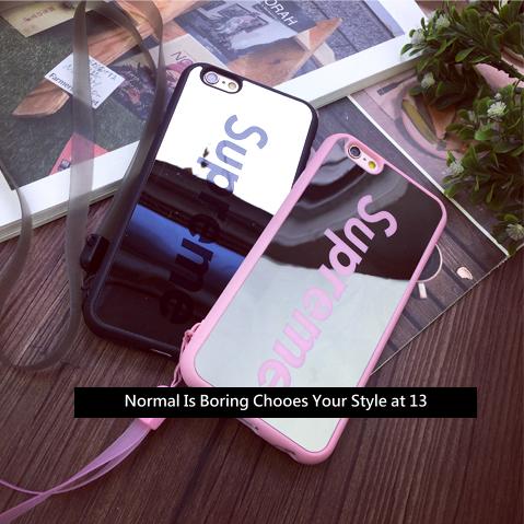 【Super me情侶麻吉潮牌款】iphone6手機殼‧保護套‧附掛繩‧質感鏡面‧‧{適用蘋果iPhone 6 4.7吋\6Plus‧5.5吋#10404S9455