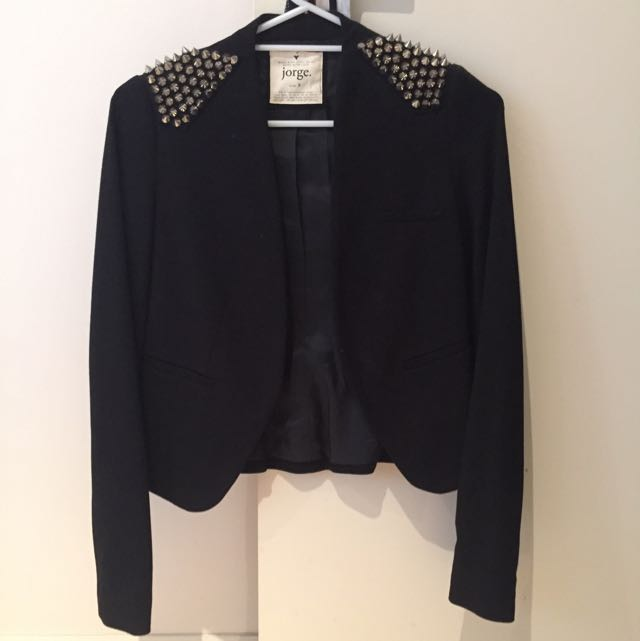 Jorge Studded Shoulder Jacket
