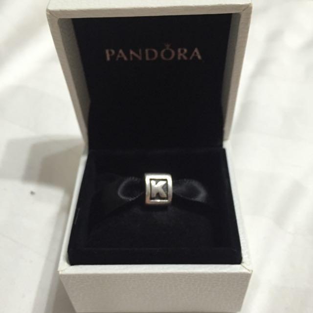 Letter k Pandora Charm