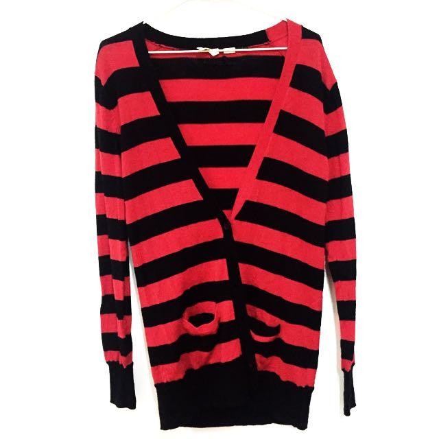 Levi's紅黑設計針織外套