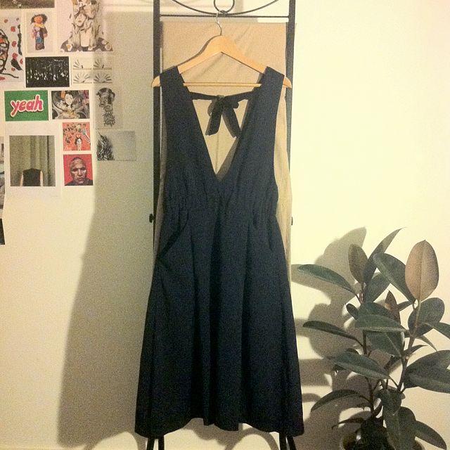 Midi Low V Dress