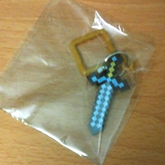 Minecraft Sword Pixel Art Keyring