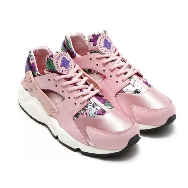 NIKE PINK HUARACHE Suede Limited Edition Shoes cd38570d5401