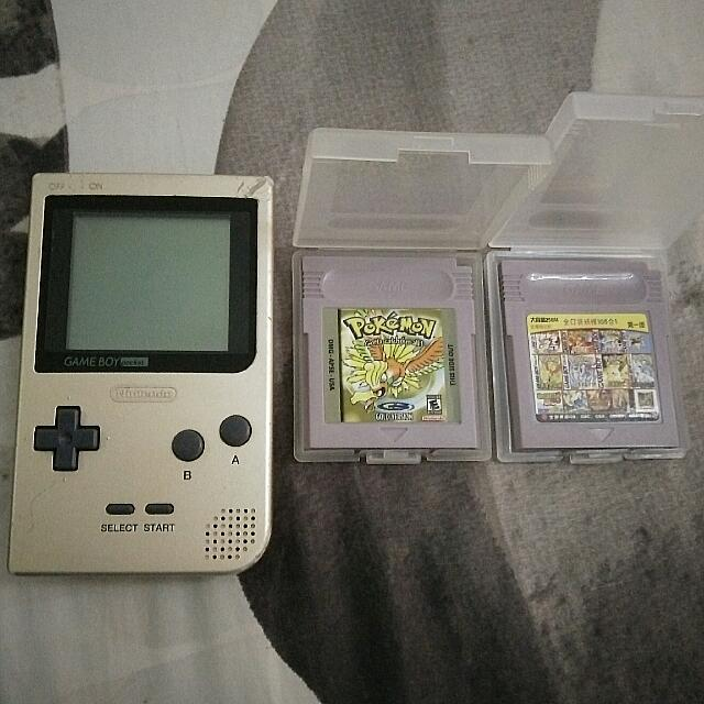 Authentic Nintendo Game Boy Pocket Gold Color Edition