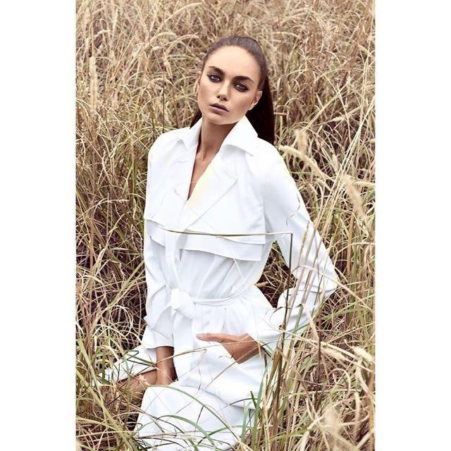 Premonition Designs White Trench Coat