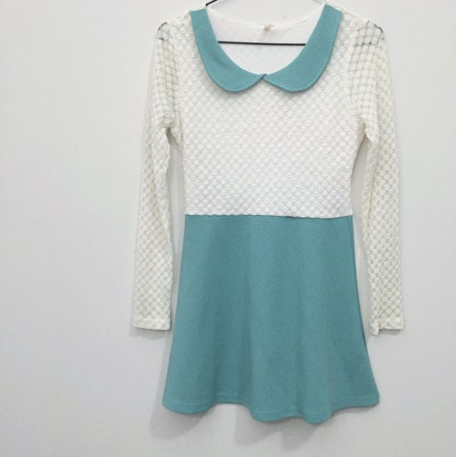 Sheer Sleeve Dress S