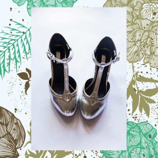 Silver Topshop Shoes