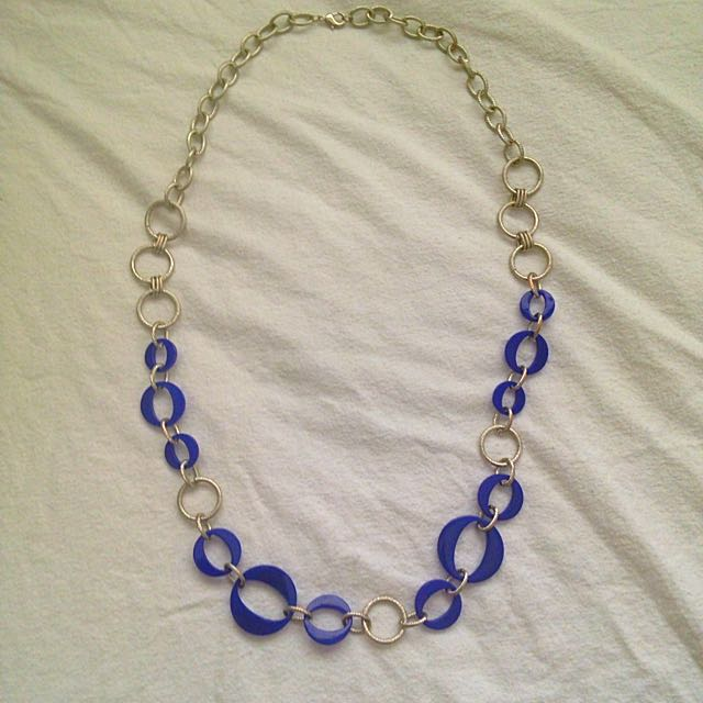 📮sussan royal blue & silver necklace