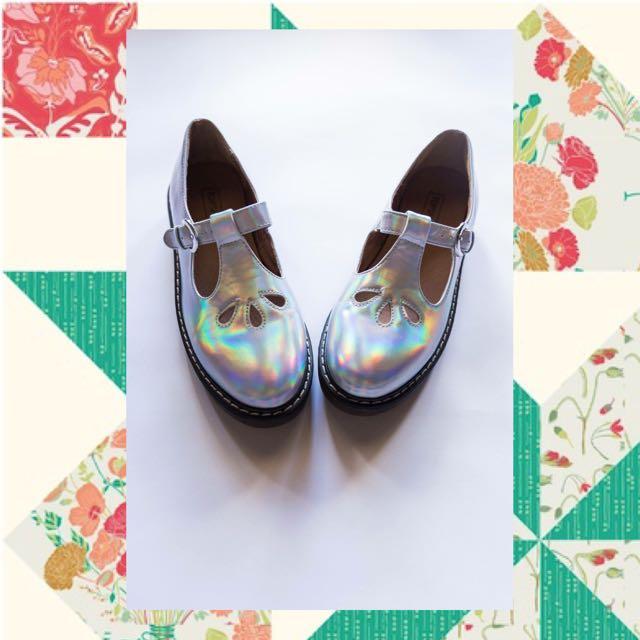 Topshop Holographic Shoes Size 5