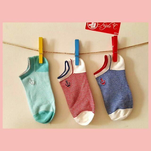 【TripleC 現貨】韓版 船錨短襪