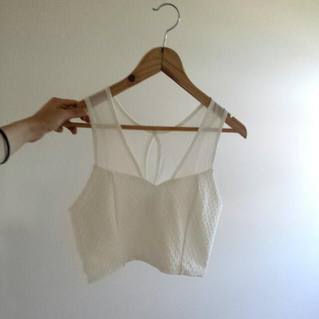 Valley Girl White Crop - Size M