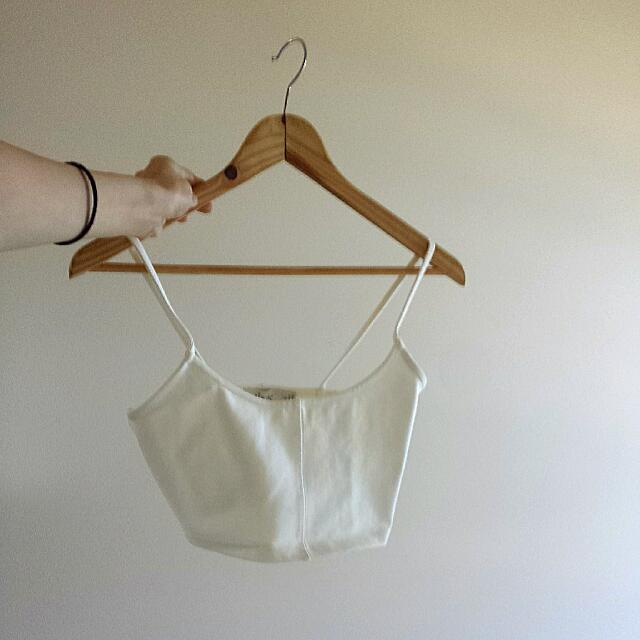 White Crop Top - Size 8 ( 100% New)
