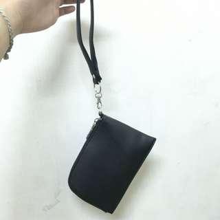 頸掛包 黑 適合放手機零錢鈔票