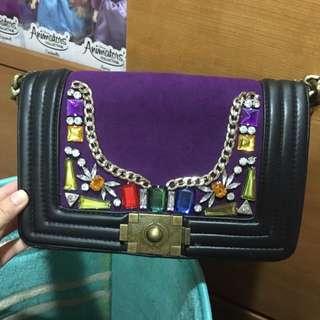紫色寶石包