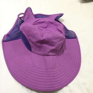 Purple Foldable Beach Hat