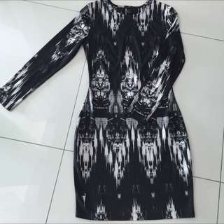 H&M Black-White Bodycon