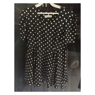 Polkadot Dress Import Singapore 2nd Size s