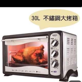 Kolin歌林不鏽鋼30公升旋風大烤箱BO-LN306