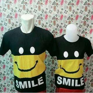 Kaos Couple Murah Smile