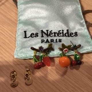 Les Nereides 真品 全新 水果耳環