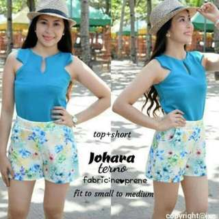 Top And Short Terno Free Size Fir To Small And Medium