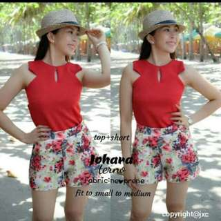 Top And Short Terno Fits To Small And Medium  Freesize