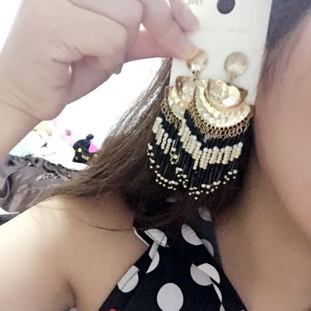 歐美款💋埃及風🙌誇張大流蘇耳環
