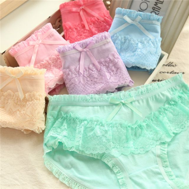 日系 女棉質內褲 三角褲  糖果色  多款預購 (可選色) 005