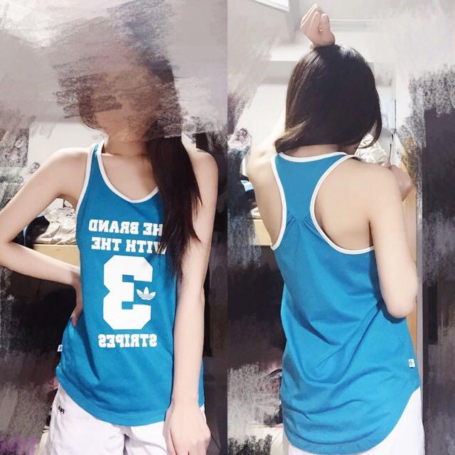 水藍 愛迪達 Adidas 背心 球衣
