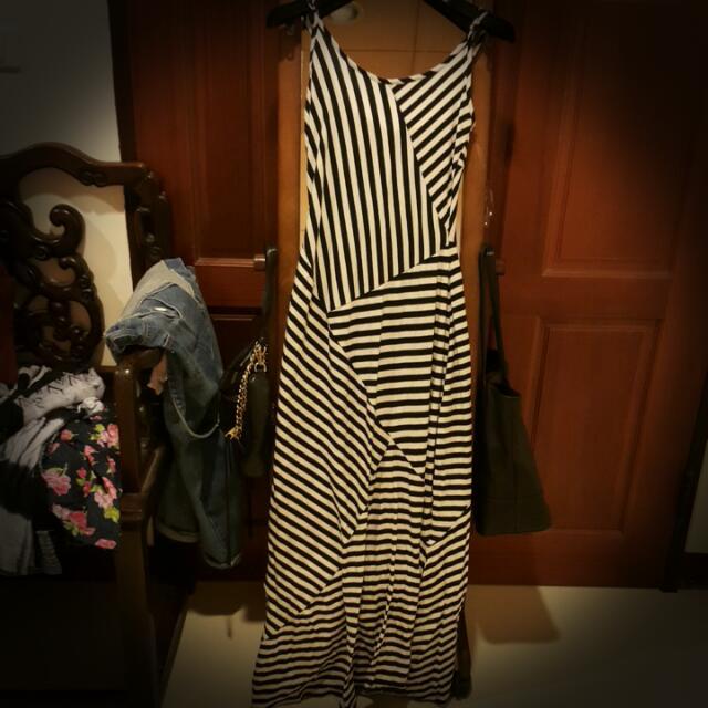 二手 Monteau 條紋 洋裝