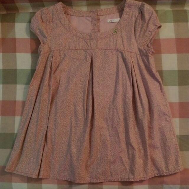 (免運費)⬇降價囉!a la sha粉紅色小碎花短袖上衣。S
