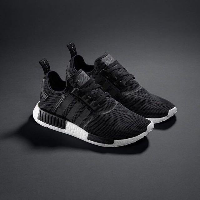 Adidas NMD Runner R1 黑白網眼布