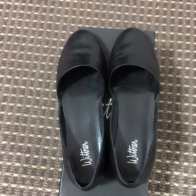 Brand New Wittner Leather Black Shoes