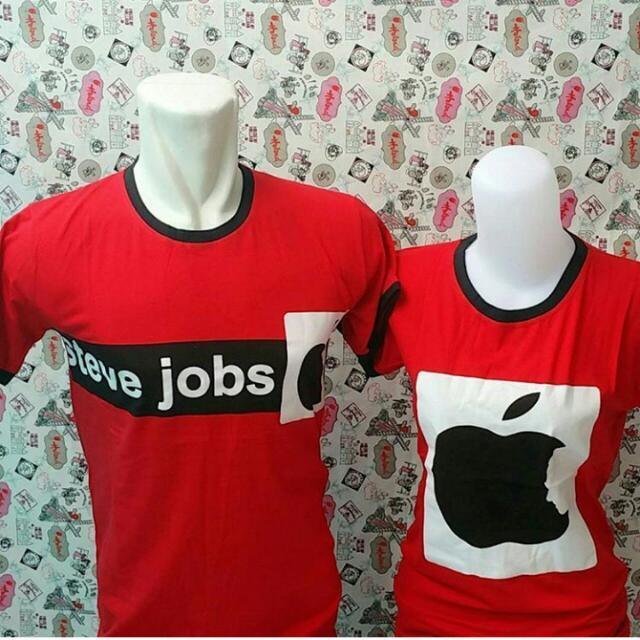 Kaos Couple Murah Steve Jobs