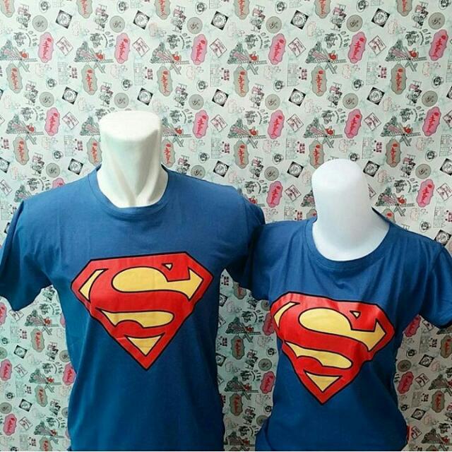 Kaos Couple Murah Superman Logo