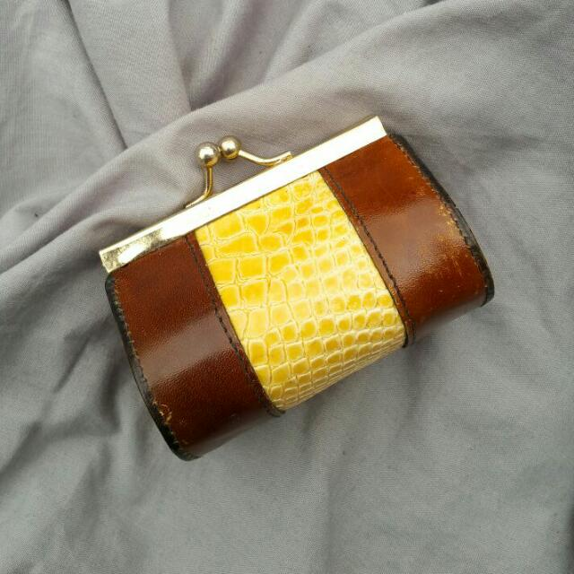 LEATHER & CROCODILE Skin Coin Purse