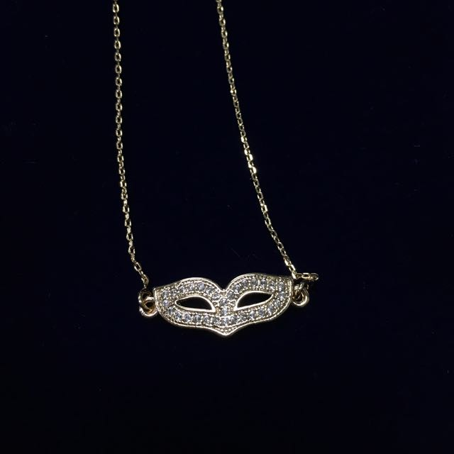 Master Mask Rose Gold Plated Necklace