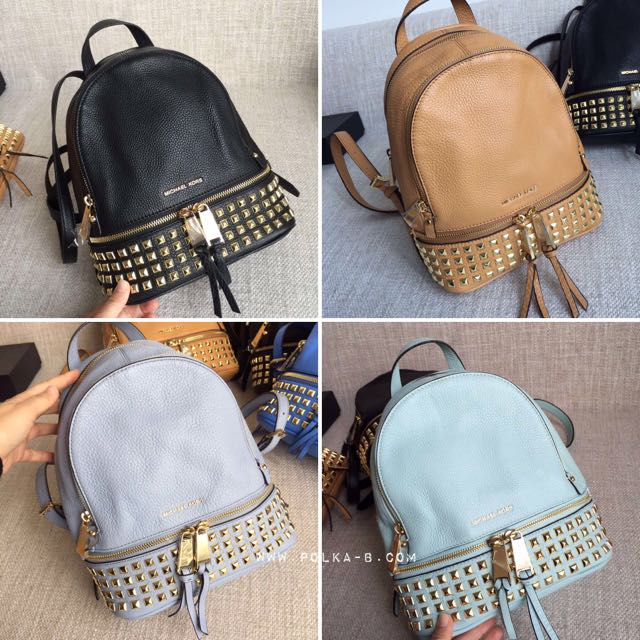 22553165279a Michael Kors Rhea extra small studded backpack, Luxury on Carousell