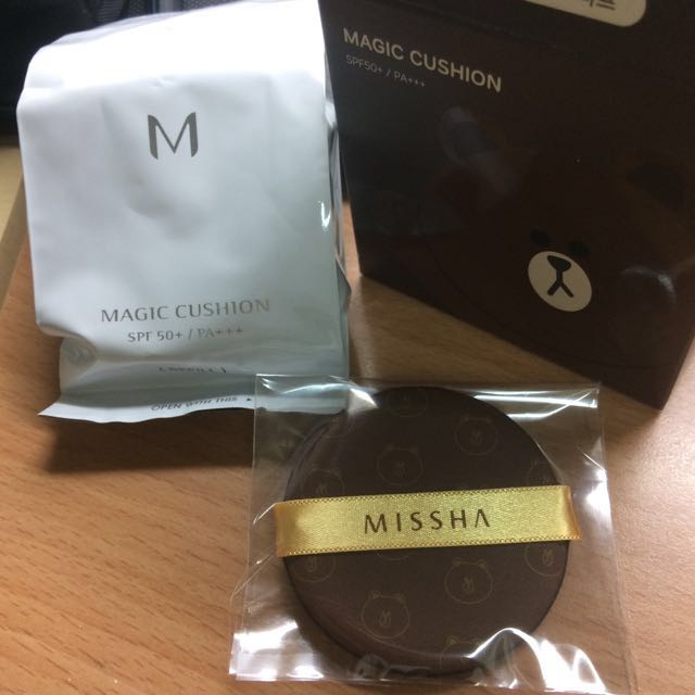 Missha 氣墊粉餅補充芯_銀盒21號