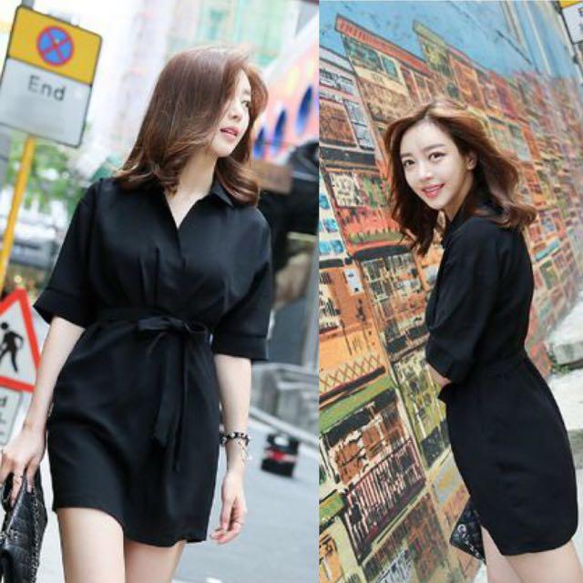 Sleek Smart Korean Minimalist Basic Style Chic Maddock Short Sleeve