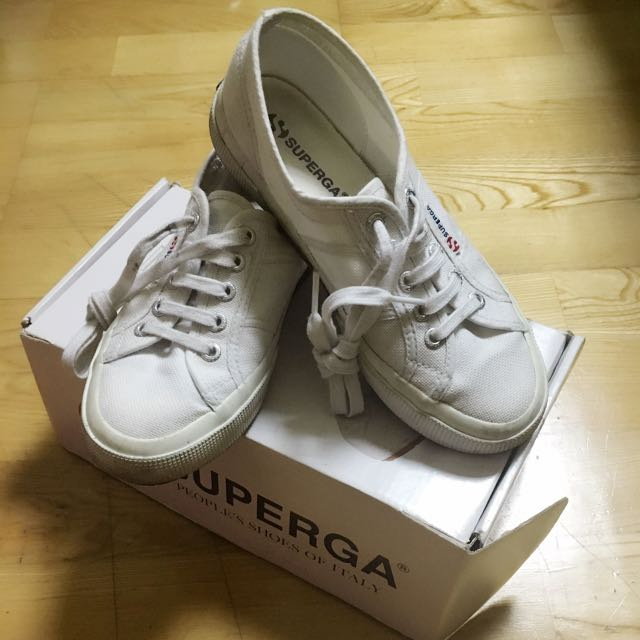 Superga 全白 義大利國民鞋 37號