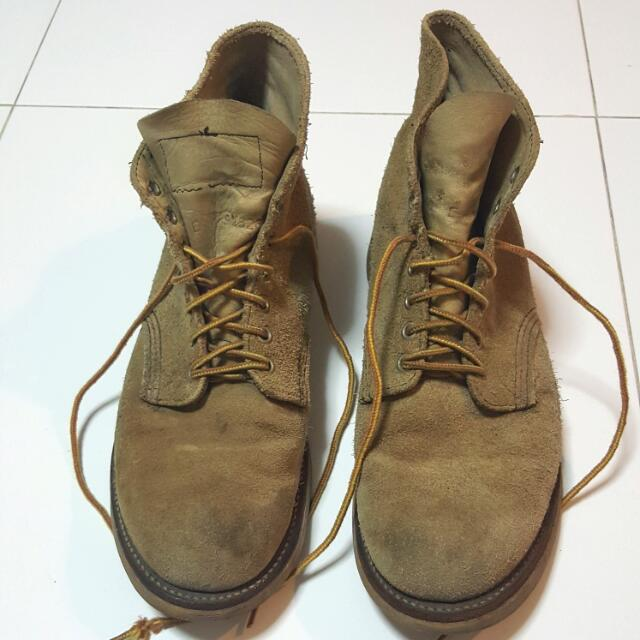vintage red wing 8167 suede classic round toe 10e shoes boots