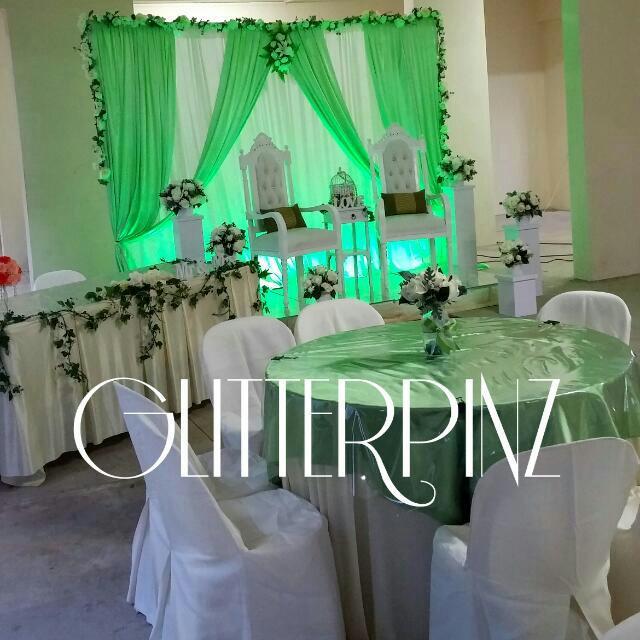 Wedding Nikah Simple Backdrop Decoration Muslim: Wedding Mini Dais / Indoor / Outdoor Events / Backdrop