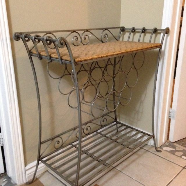 WINE TABLE WITH RACKS