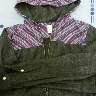 (暫售)CLOT 民俗風連帽襯衫外套 M號