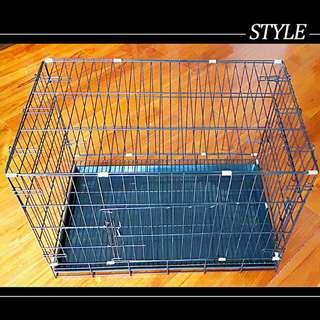 兩尺半烤漆黑色金屬寵物籠