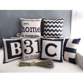 【6款】居家擺飾 美式 字母 簡約 POP抱枕 抱枕套 咖啡廳 客廳 沙發靠墊套