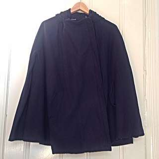 St Lenny Navy Cape With Hood