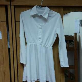 白色 正韓貨 洋裝