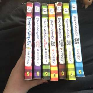 Diary Of A Wimpy Novel Set (7 Books)